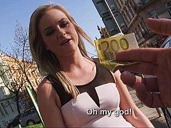 Chica, Mamada, Europeo, Dinero, Pov, Coño, Chupando