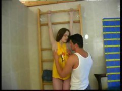 Adorable Charming Innocent Spanish teenage Bathroom Sex With Older Guy