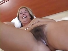 Hirsute Soccer mom Interracial Internal cumshot