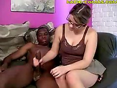 White Girl Ebony Love pole