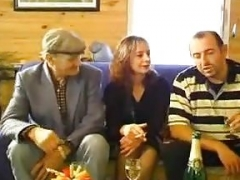 STP7 Unshaved Wife Gets Shared By Husband & Grandpa !