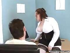Phat boobs chief nikki penalizes porn watcher