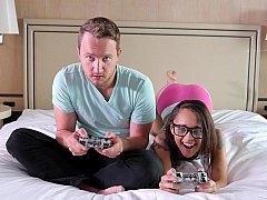 Gamer girl blowjob