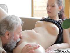 Ilona and her stud are sharing a fine time when he invites his older pal over