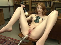 Introducing toys to her tight wet hole