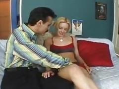 Dirty mature lad fuck young blonde slut