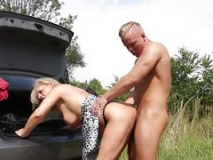 Excited old slut Mia gets an extra long dick GrandMams.com