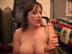 Enjoying dildo games