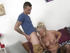 Desperate old mothers fuck immature sons