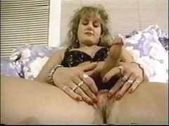 Busty hermaphodite plays with vibrator