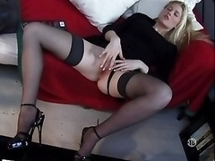 Nice Blonde Jacking off