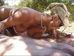 German mature is fucked by a duo younger dudes