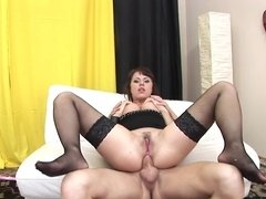 Bubble butt cutie fucked up the asshole by a rigid cock