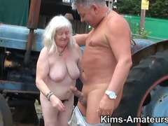 72 yr old granny gives a fellatio and gets pounded