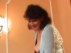 Big-breasted Mature Pantyhose Bangs A couple of Fuck poles