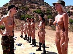 お尻, デカ尻, ブロンド, グループ, レズビアン, 裸