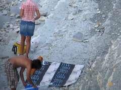 Voyeur. Butt-Crack on public beach