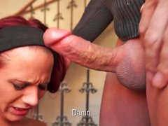 Terry Palomito riding on massive penis and receiving huge facial