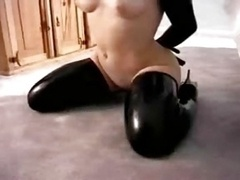 Latex Sub Gal Dress Up In Full Rubber