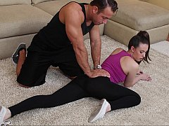 Personal training from her husband's friend
