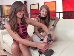 Sensi and Izzy having wicked blast during hot lesbian adventure