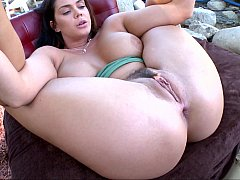 Anal fingering of a busty lass
