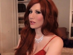 Redhead Audrey rectal in stockings and besides garter belt