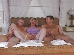 British Eager mom Josephine James in a MMF 3some