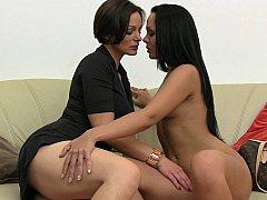 Lesbian Milf casting teen