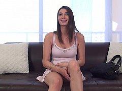 Stunning brunette loves longer erotic interviews