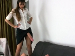 Wicked hotties poke the biggest strap-ons and spray jizz eve