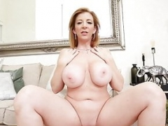 Hot Sexually available mom Sara Jay sticks her fingers in her vagina and also squirts!