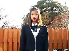 Japanese College girl Urinating Herself and Getting Screwed
