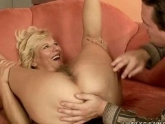 Granny getting her bushy snatch fucked hard