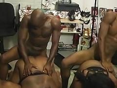 Crazy amateur ebony sex group intercourse