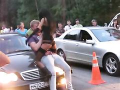 Naughty russian stripper