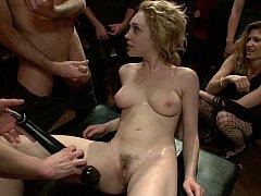 Naughty blonde teen used like a pleasure toy
