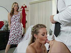 Американки, Спальня, Блондинки, Невеста, Семья, Две девушки, Секс без цензуры, Свадьба