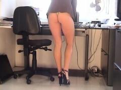 Karen White mini dress upskirt