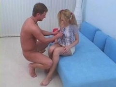 18-19 y.o. In Pigtails Gets Ana...