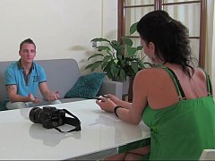 Euro Milf casting a guy