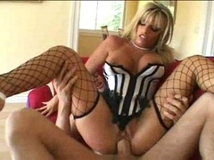 Horny grown-up floozy sucking and moreover making love