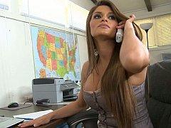 Incroyable, Gros seins, Brunette brune, Hard, Mère que j'aimerais baiser, Bureau, Secrétaire, Grande