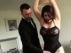 British redhead sub gets jizzed in mouth