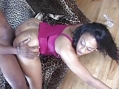 Ebony whore get fucked hard till cum on bra buddies
