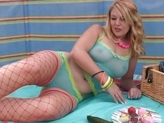 British Chick Shay Hendrix Uses A Cucumber For Sex
