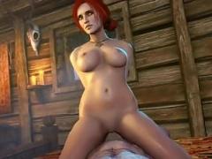 Sexy Triss Merigold sex & blowjob compilation