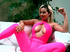 Alluring exotic Latina and her toy