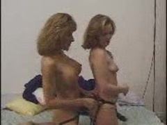 Wife and Neighbor With A Strap-o...