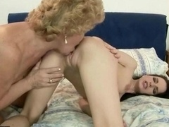 Granny versus hot 18-19 year old babe